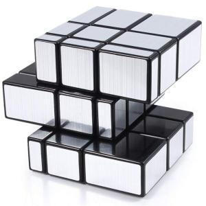 Meily ルービック ミラーブロックス 立体パズル 3×3×3 スピードキューブ 57mm 全面銀...