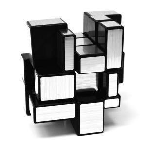 ミラーキューブ ミラーブロックス スピードキューブ 不規則な3x3x3 57mmシルバー (?)