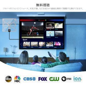 Wsky テレビ アンテナ 室内 HD 地デジ ペーパー アンテナ 卓上・TV アンテナ 96KM受...