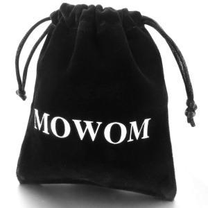 MOWOM シルバー ブラック ステンレス ゴム ブレスレット バングル カフ バングル クロス 十...
