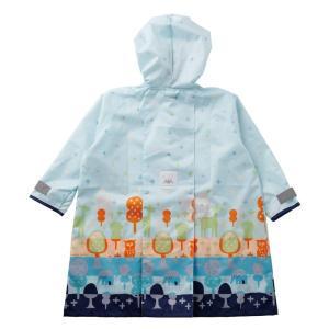 kukka hippo レインコート・ポンチョ もりのおさんぽ/ブルー 110cm 反射ロゴ付 10...