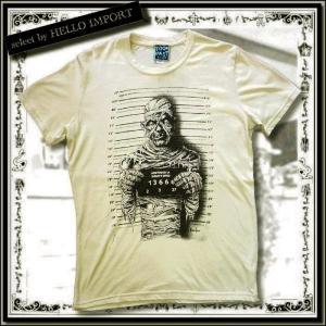 ホラーパンク ファッション 服 Tシャツ 半袖 メンズ 犯罪者 マミー 薄手 大きいサイズ /rfa028|hello-import