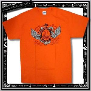 訳あり メンズ 半袖 Tシャツ アメカジ スネーク ウイング柄 まとめ割対象商品 /rfa085-m19|hello-import