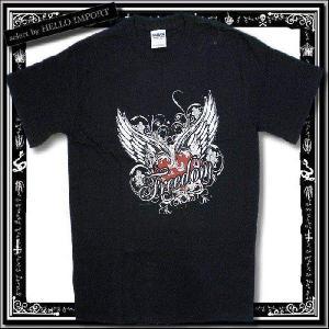 訳あり メンズ 半袖 Tシャツ アメカジ freedom柄 まとめ割対象商品 /rfa085-s4|hello-import