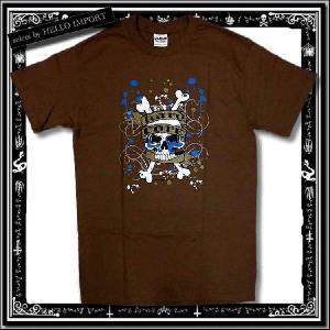 訳あり メンズ 半袖 Tシャツ アメカジ スカル ペイント柄 まとめ割対象商品 /rfa085-s9|hello-import