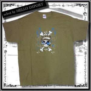 訳あり メンズ 半袖 Tシャツ アメカジ  大きいサイズ スカル きらきら 骨柄 まとめ割対象商品 / rfa087-xl-12|hello-import
