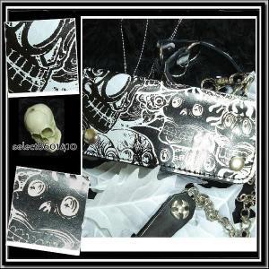 85de0bfe10e75a ... 【売り切れ】/パンク/ロック/ベルトループ/チェーン付/ホラースカル ...