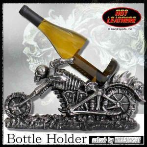 インテリア雑貨 ワインホルダー ドクロ バイク 型 アメリカ USA / rfo193|hello-import