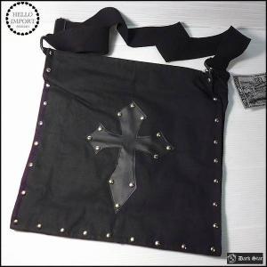 訳有り ゴシック バッグ カバン  ショルダーバッグ 十字架&スタッズ /rfo258-2|hello-import