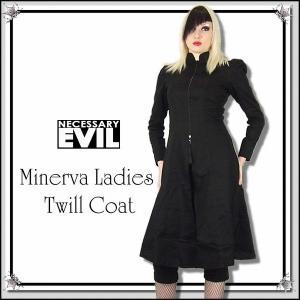 スプリング コート ハイショルダー ゴシック ファッション 服 レディース 黒 送料無料 / wot089|hello-import