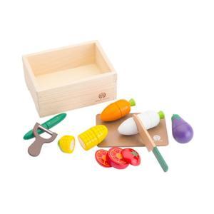 知育玩具 ウッディプッディ(WoodyPuddy) はじめてのおままごと サラダセット(木箱入)
