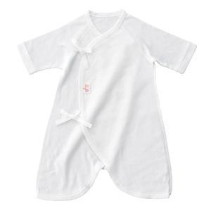 新生児ウエア 赤ちゃんの城 コンビ肌着 白・無地 スムース(冬)の画像