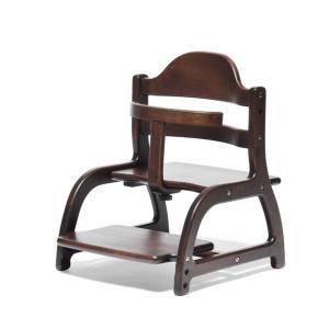 ベビーチェア yamatoya(大和屋) sukusuku low chair(すくすく ローチェア) ダークブラウン|helloakachan-store