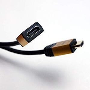 HORIC ハイスピードHDMI延長ケーブル 0.5m ゴールド タイプAメス-タイプAオス 4K 3D HEC ARC フルHD 対応 金|hellodolly