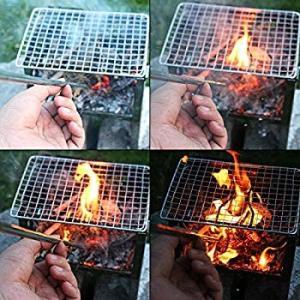 PSKOOK 火吹き棒 送風機 二つサイズ 火起こし 伸縮式 ステンレス鋼チューブ アウトドアキャンプ用ポケット 収納袋とカラビナ付|hellodolly