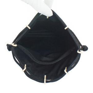 INDEN-YA 印傳屋 印伝 合切袋 巾着 メンズ 男性用 黒×白 とんぼ 3007-11-008