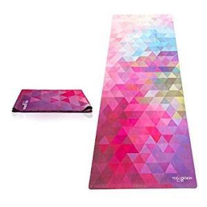 Yoga Design Lab (ヨガデザインラボ) ヨガマット 厚さ1mm トラベルマット 折りたたみ ストラップ付/トライベッカサンド|hellodolly