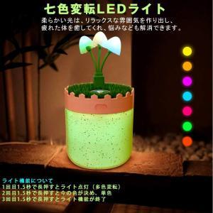 加湿器 卓上 超静音 加湿器 おしゃれ 7色LEDライト 超音波式 USB加湿器 花粉症対策 小型 空気浄化機 空焚き防止 部屋/車/オフィ|hellodolly