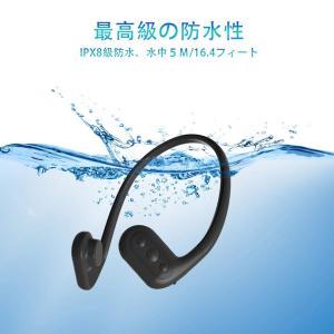 Tayogo 骨伝導ヘッドホン一体型 国際防水IPX8級完全防水MP3プレーヤー 8GB FMラジオ スポーツ用 防水/海水/防塵/耐寒熱性 hellodolly