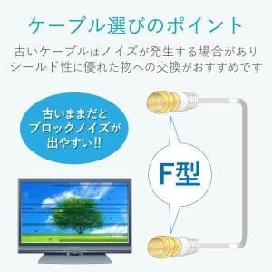 DXアンテナ フラットケーブル アンテナケーブル 2K 4K 8K 対応 0.5m F形プラグ/F形プラグ ホワイト 1JW1FFS(B)|hellodolly