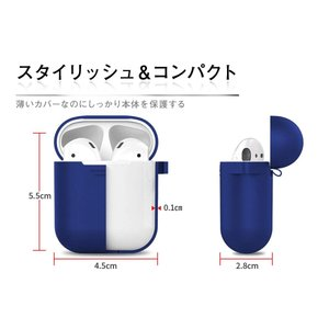 L-park Apple AirPods ケース カバー シリコン 保護 iPhone XS/iPhone XS Max/iPhone XR|hellodolly