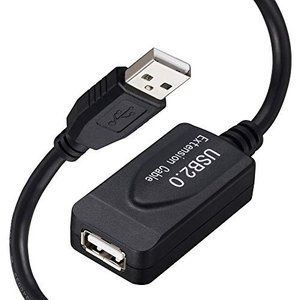 USB 2.0延長ケーブル10m、Uperatre USB 2.0アクティブエクステンダーコードタイプAオス-プリンター、キーボード、ゲーム hellodolly