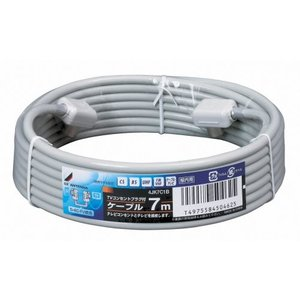 DXアンテナ 加工済同軸ケーブル(S-4C-FV) 両端コンセントプラグ 7m 4JK7C1B|hellodolly