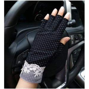 レディース 指なし UV手袋 通勤 通学 紫外線対策 日焼け止め コットン ソフト 日焼け止め ショート グローブ UVカット 手袋 スマホ hellodolly