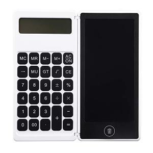 5インチ電卓メモパッド、電卓と電子メモパット一体化、計算の当時にメモパットの上でメモを取れます、オフィス、学生、仕事用 ビジネス用 デジタル hellodolly
