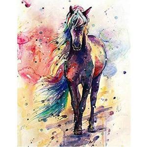 PAPRMA DIYクロスステッチキット、ダイヤモンド絵画、インテリア装飾品 、クリスタル ラインストーン全面貼り付けタイプ 手芸(馬/ 3 hellodolly