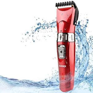 電動バリカン充電式 2020年最新ヘアカッター ヒゲトリマー IPX7防水 電動バリカン散髪用 セルフヘアーカッター 水洗い可 子供・家庭・|hellodolly