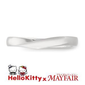 ハローキティの結婚指輪 マリッジリング メンズ バッキンガム宮殿 Pt900|hellokitty-mayfair-j