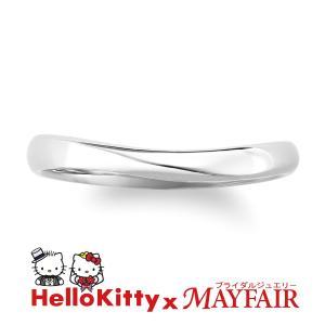 ハローキティの結婚指輪 マリッジリング メンズ キューガーデン Pt900 hellokitty-mayfair-j