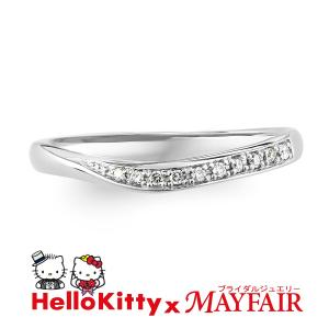 ハローキティの結婚指輪 マリッジリング レディース キューガーデン K18 ホワイト・ピンク・イエロー|hellokitty-mayfair-j
