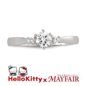 ハローキティの婚約指輪 エンゲージリング タワー・ブリッジ Pt900 Dia0.20up|hellokitty-mayfair-j