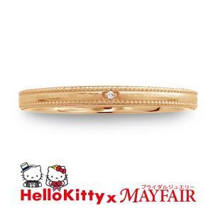 ハローキティの結婚指輪 マリッジリング レディース タワー・ブリッジ K18 ホワイト・ピンク・イエロー|hellokitty-mayfair-j