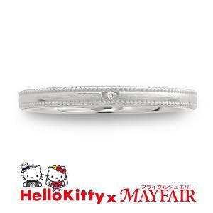 ハローキティの結婚指輪 マリッジリング レディース タワー・ブリッジ Pt900|hellokitty-mayfair-j