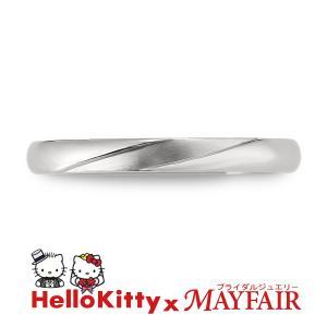 ハローキティの結婚指輪 マリッジリング メンズ ロンドン・アイ K18 ホワイト・ピンク・イエロー hellokitty-mayfair-j