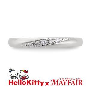 ハローキティの結婚指輪 マリッジリング レディース ロンドン・アイ K18 ホワイト・ピンク・イエロー|hellokitty-mayfair-j