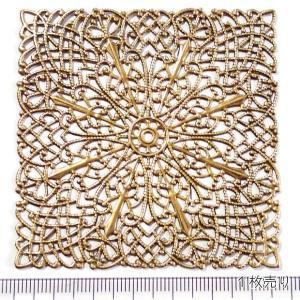 10821-〈Filigree〉 Brass Filigree 型抜きパーツ 68mm 1個|hellospace