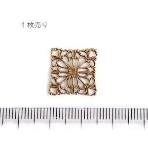 10830-〈Filigree〉 Brass Filigree 型抜きパーツ 15mm 1個|hellospace
