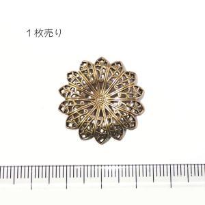10848-〈Filigree〉 Brass Filigree 型抜きパーツ 25mm 1個|hellospace