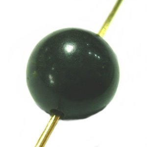 11452-《Vintage・ビーズ》 Bakelite Beads/Dark Green 9mm 1個|hellospace