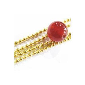 12384-【チェーン】 1.5mmボール ゴールド 1メートル 1本|hellospace