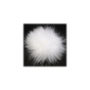 1248-『ファー』 フォックスファー ホワイト Wカン付き 標準80mm 1個|hellospace