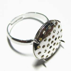 1576-『指輪パーツ』 シャワー台リング 白銀色 16mm(シャワー台) 1個|hellospace