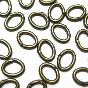 2346-【基本パーツ】 Cカン 真鍮古美 4.5x3.5mm 約110個/1セット|hellospace