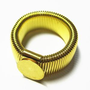 3581-『指輪パーツ』 リング 金色 約19mm(トレイ部分10mm) 3個/1セット|hellospace