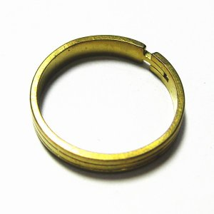 4939-『指輪パーツ』 Brassリング 金古美 8mm巾 5個/1セット|hellospace