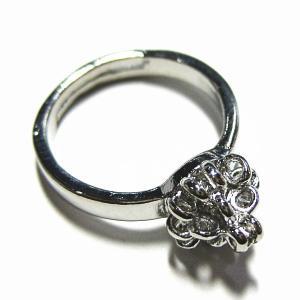 5358-『指輪パーツ』 リング カッパー製 銀色 17mm 2個/1セット|hellospace